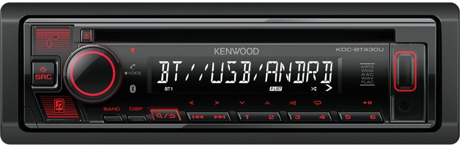 Автомагнитола Kenwood MP3/WMA KDC-BT430U BLUETOOTH